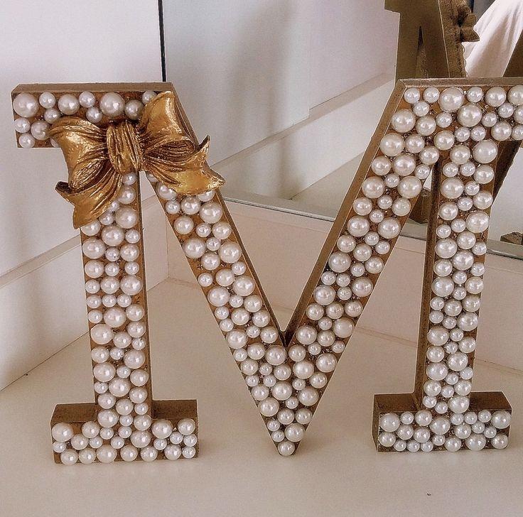 25 melhores ideias sobre letras de madeira decoradas no pinterest letras de madeira - Letras grandes decoradas ...