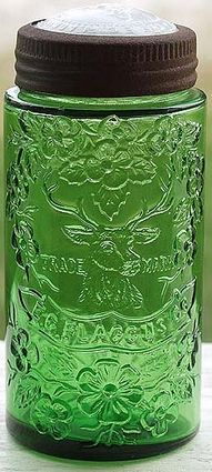 Vintage Green Glass canning jar -- no idea the age as I've never seen one, even in an antique store.