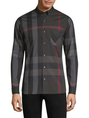 BURBERRY Thornaby Check Shirt. #burberry #cloth #