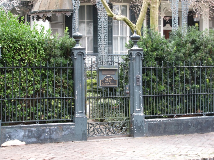 Love this historic wrought iron fence in new orleans for Landscaping rocks new orleans