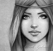 With a feather in her hair by gabbyd70