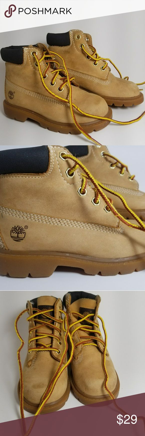Kids Timberland Boots Boys Timberland Boots Wheat color Waterproof Size 9M Pre owned, Good Condition Same or Next Day shipping Timberland Shoes Boots