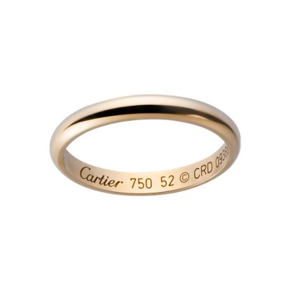 Rose gold wedding band by #cartier