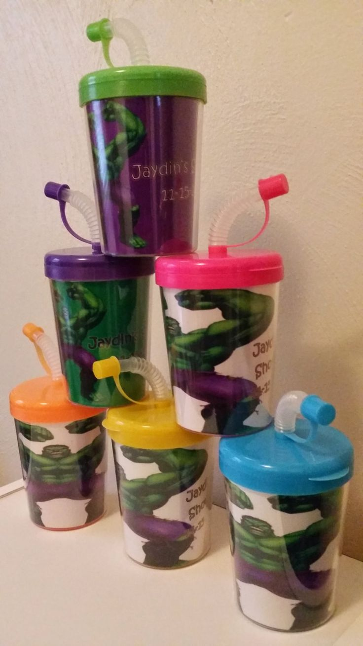 ... Incredible Hulk Party Favor Cups Personalized with Thanks for coming,  Incredible Hulk Super Hero Birthday ...