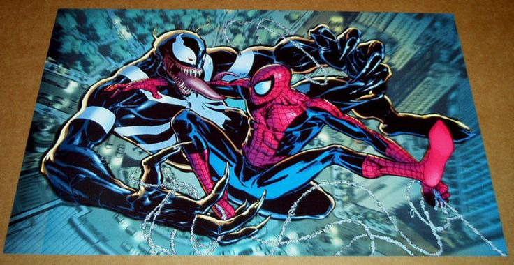 AMAZING SPIDER-MAN VS VENOM POSTER #596 PETER PARKER MARVEL COMICS WEBS DEATH PP