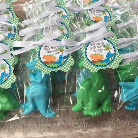 DINOSAUR SOAPS {Favors} - Dinosaur Party, Birthday Party Favors, Dino, Baby Shower, Dino-Mite, Handmade Soaps, Kids Boy or Girl Party