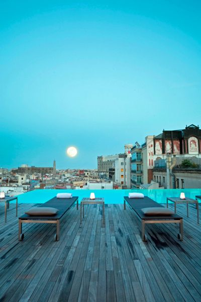 terraza del Grand Hotel Central Barcelona