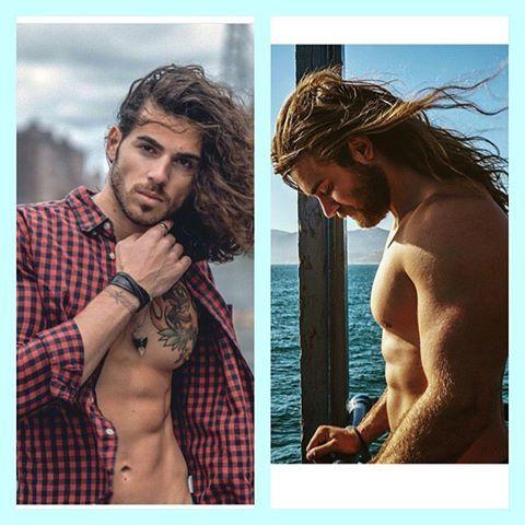 Long hair guys☺️ #models #guys #abs #fit #manbun #manbuns #longhair #man #fashion #style #fitarm #training #trainhard #gym #muscle #body