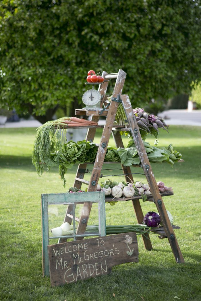 Beatrix Potter Spring Garden Party via Kara's Party Ideas | Cake, decor, cupcakes, games and more! KarasPartyIdeas.com #springparty #gardenp...