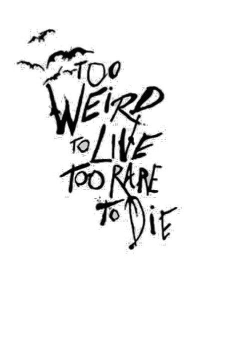 Too weird to live ¤ Too rare to Die - Quotes | Fob&patd ...