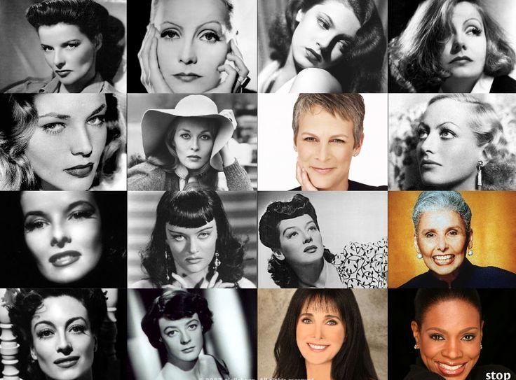 Dramatic: Joan Crawford, Greta Garbo, Lana Turner, Lauren Bacall, Rosaline Russell, Lena Horne, Alexis Smith, Katharine Hepburn, Maggie Smith, Faye Dunaway, Kathleen Turner, Jamie Lee Curtis, Barbara Carrera