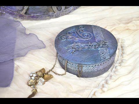 Gyöngyházfényű ékszertartó // Pearlescent jewelery box - YouTube