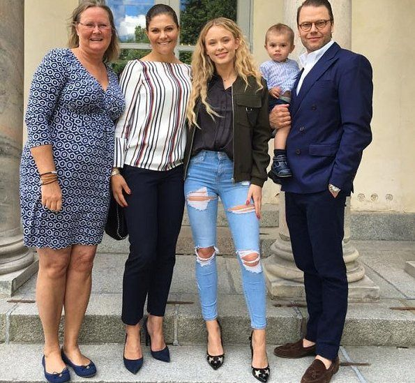 Crown Princess Victoria and Prince Daniel met with Swedish singer and songwriter Zara Maria Larsson and Agnetha Larsson