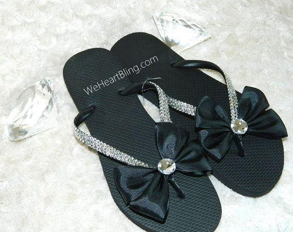 Cute Flip Flops #FlipFlops #black