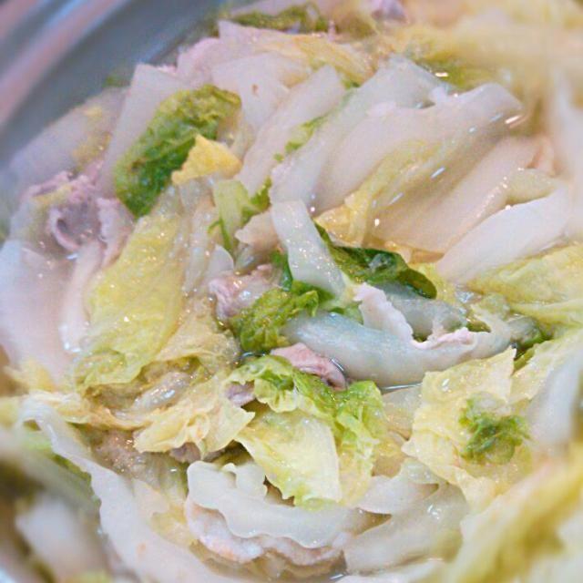 白菜のミルフィーユ鍋。風邪っぴきなので生姜入りです。 - 10件のもぐもぐ - 2013.11.26 夕食 by mai0915iam
