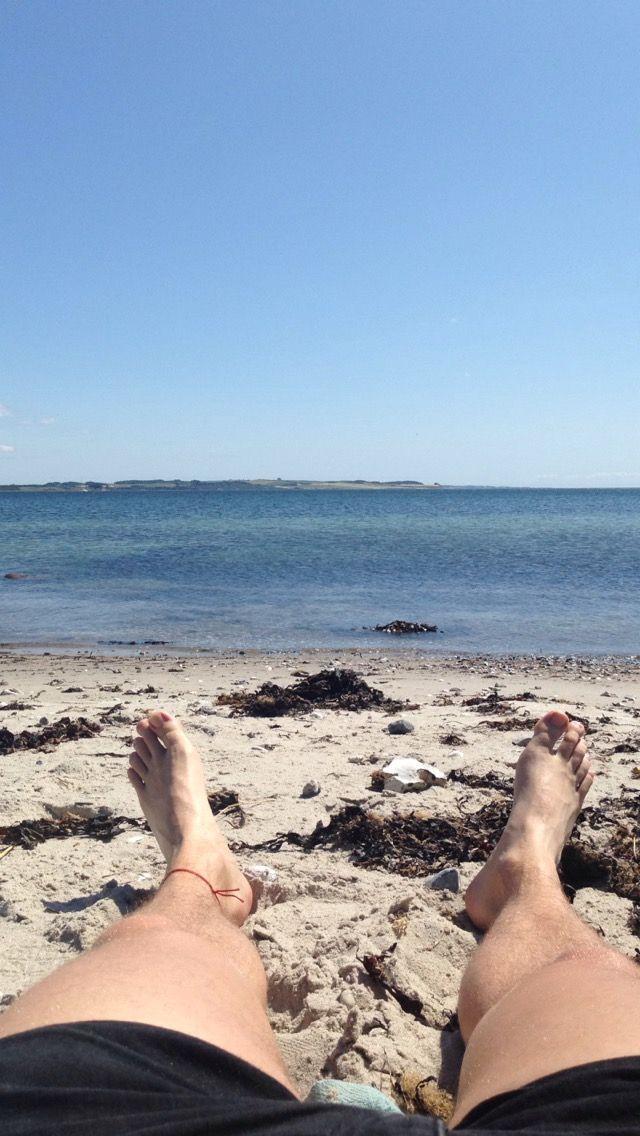 Juli. På stranden!