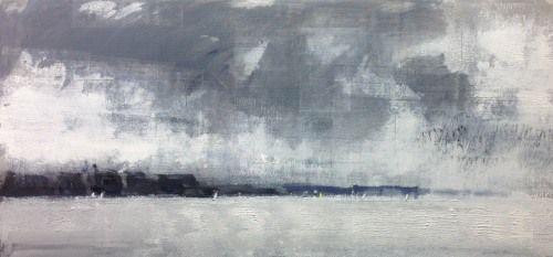Jon Barker Sailing Boats - Machrihanish - 28cm x 60cm