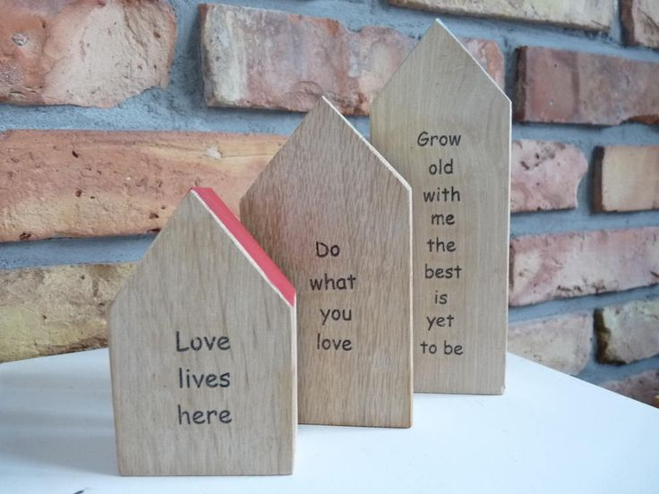 Personalized gift wooden small house with your words, handmade wood home, Keepsake Word House, Little handmade house, love gift, quote gifts by nkcraftstudio on Etsy
