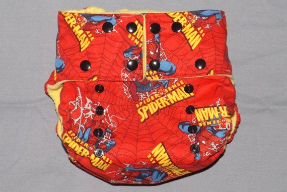 Toddler OS Diaper special needs Spiderman OS diaper by PeepOoie, $30.00