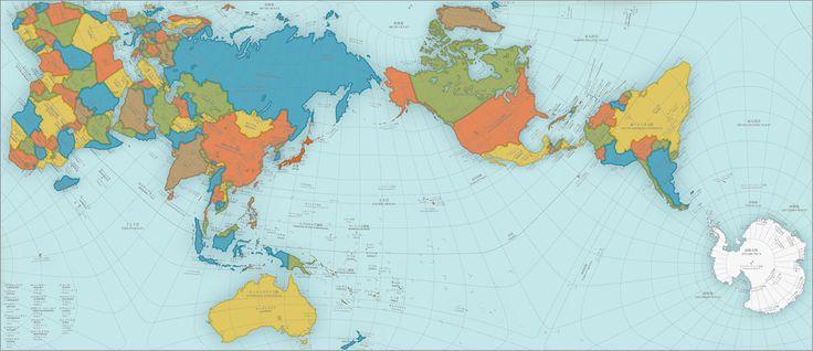 La carte du monde que vous connaissez est inexacte et déformée, mais cette nouvelle planisphère possède des proportions justes et fidèles à la réalité.