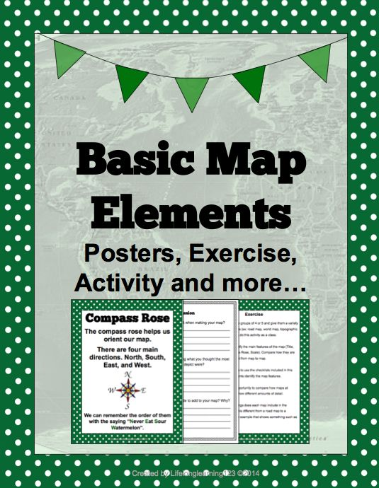 basic map elements worksheets activities and students. Black Bedroom Furniture Sets. Home Design Ideas