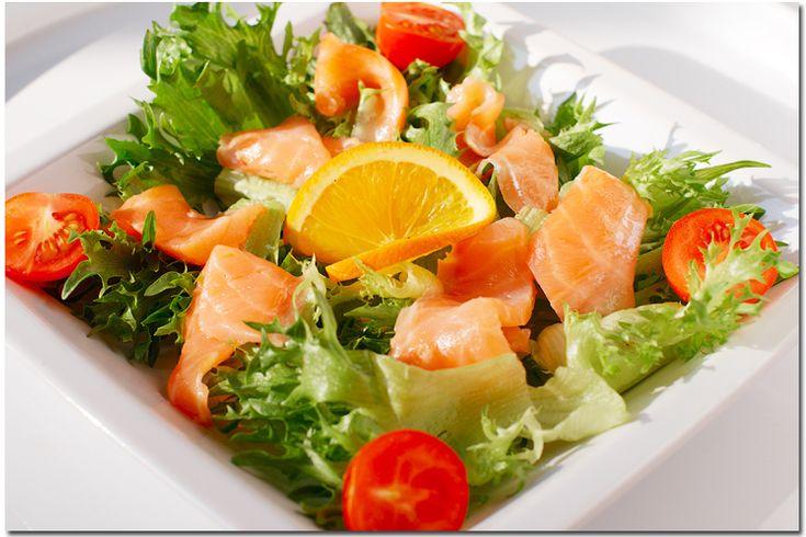 Салат с семгой (Чередование)
