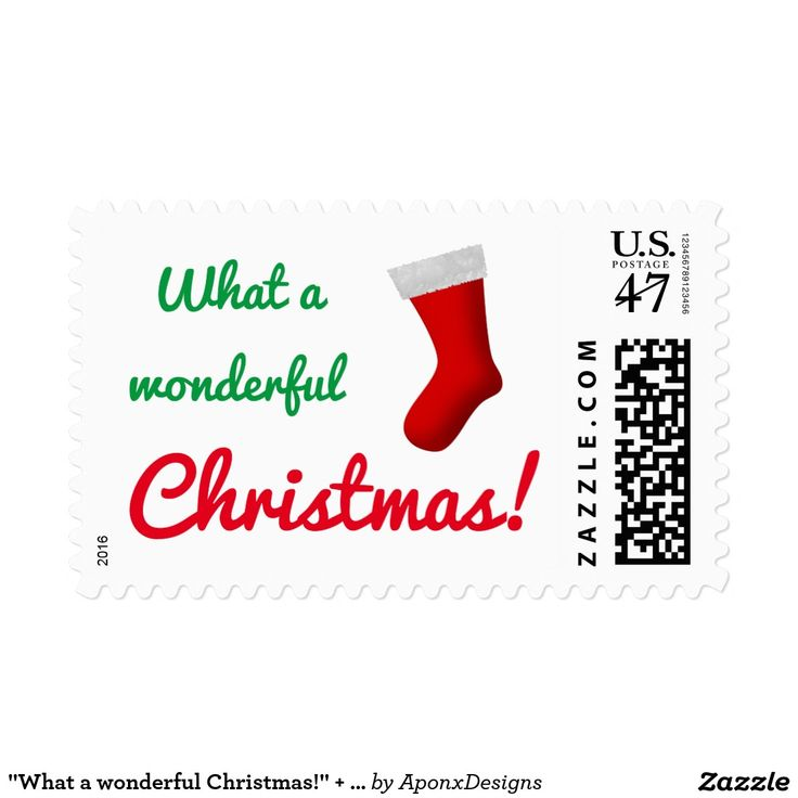 """What a wonderful Christmas!"" + Red Stocking"