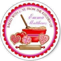 Personalized Kitchen Labels and Stickers make perfect decorations for your jars, bottles, sandwich bags, and just about any food and drink goodies...