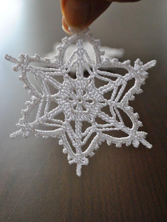 Christmas ornaments,Crochet snowflake,Christmas Decoration,Wedding shower Gift,Crochet ornament,White crochet snowflake,Handmade ornament #2