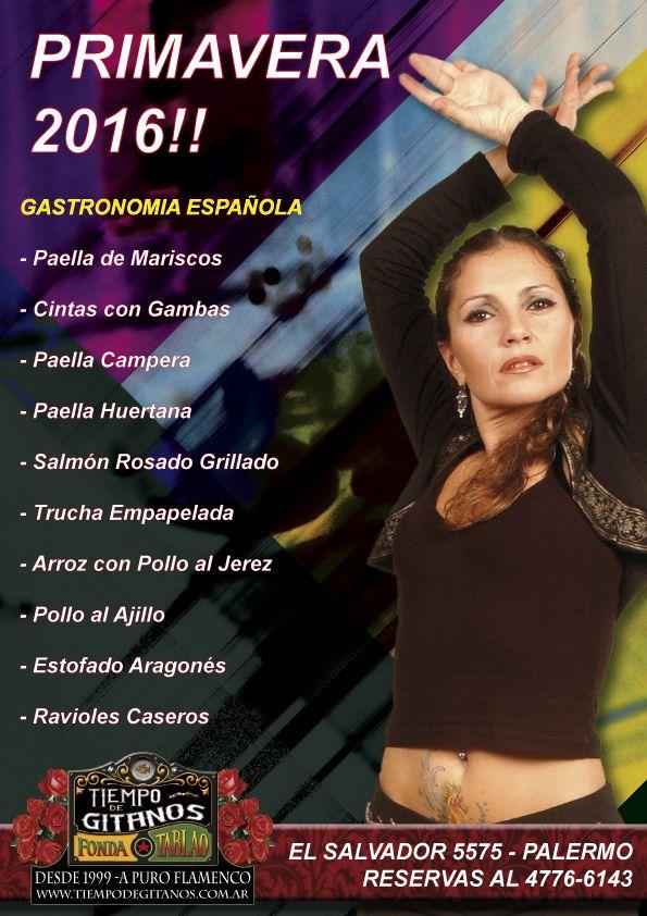 SEMANA DE LA PRIMAVERA EN TIEMPO DE GITANOS!! TE INVITAMOS A DISFRUTAR DE NOCHES ÚNICAS.  RESERVAS 4776-6143