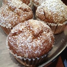 """Panera Bread Restaurant Copycat Recipes: Pumpkin Muffins - made these tonight....they are amazing.  I used whole wheat flour because that's what I had...other than that they would not fit into the """"healthy"""" category.."""