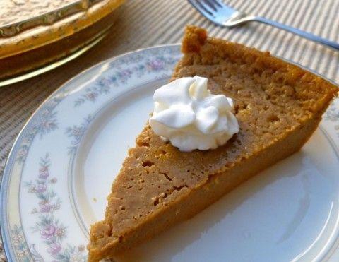 Low Fat Impossible Pumpkin Pie