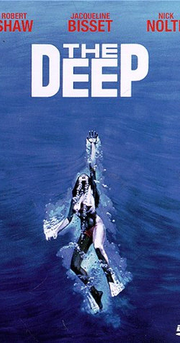 Directed by Peter Yates.  With Jacqueline Bisset, Nick Nolte, Dick Anthony Williams, Robert Shaw. A pair of young vacationers are involved in a dangerous conflict with treasure hunters when they discover a way into a deadly wreck in Bermuda waters. Featuring extended underwater sequences and a look into the affairs of treasure hunting. Based on a novel by Peter 'Jaws' Benchley.