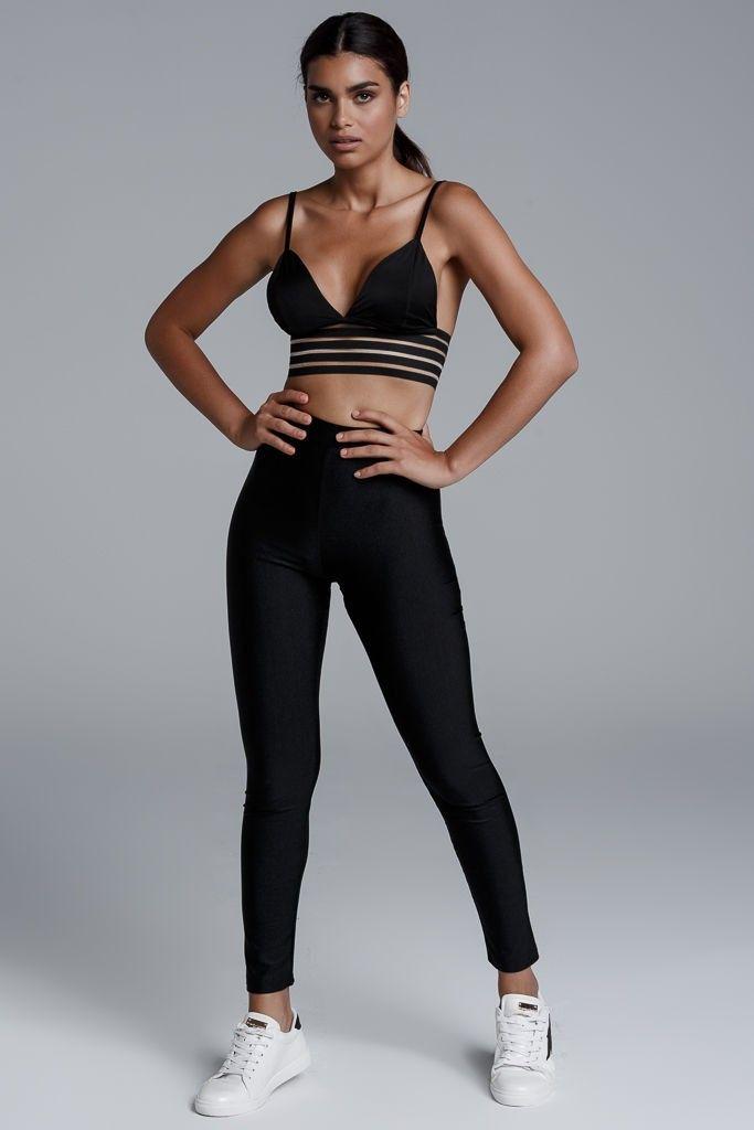 CKONTOVA leggings for Ultimate Urban Walks... Metallic Black