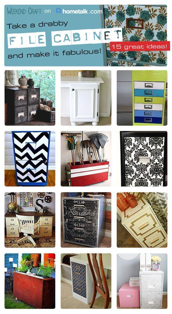 Filing Cabinet Makeovers on HomeTalk — Weekend Craft