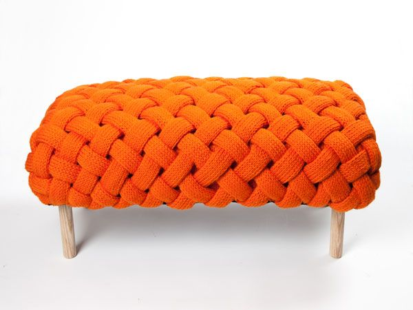 Knitted bench by Claire O'Brien
