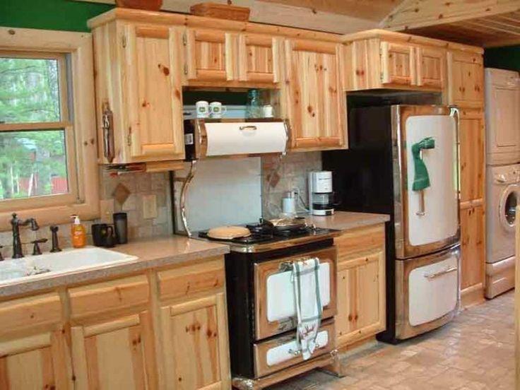 Kitchen: Stunning Hickory Kitchen Cabinets With Granite ...