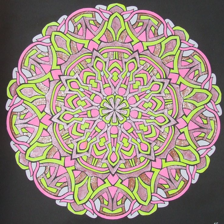 Kaleidoscopes 45 done with gelpens