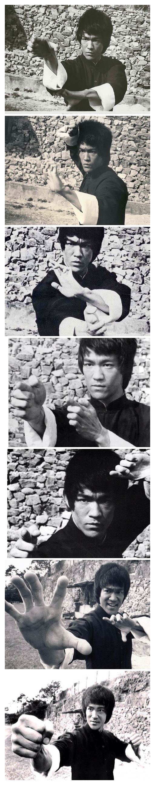 Bruce Lee behind Promo Picture Shots for Enter The Dragon.