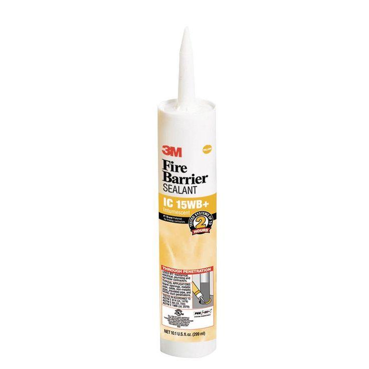 3M 10.1 fl. oz. Fire-Barrier Sealant IC 15WB Plus, Light Yellow