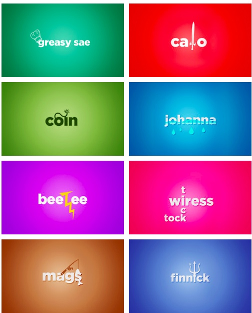 'The Hunger Games' Character Typographic Logos | © Risa Rodil 2012 | Set 3 of 3
