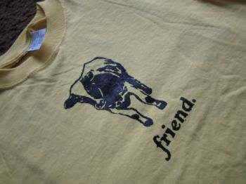 DIY screen printing with glue and screen printing ink.