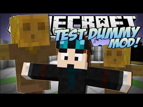 Minecraft   TEST DUMMY MOD! (The Indestructible Object!)   Mod Showcase - YouTube