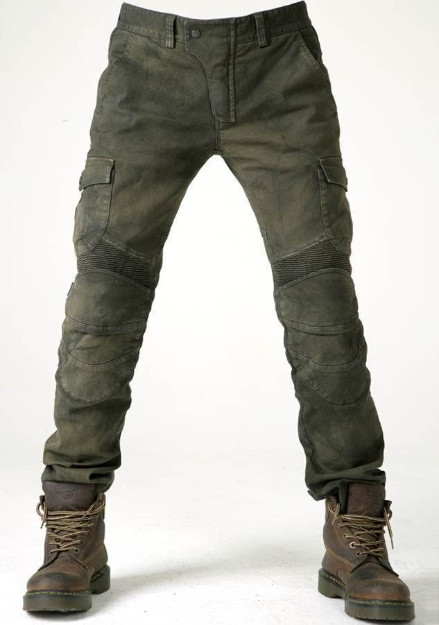 uglyBROS - Motorpool Olive - Motorradjeans for Men