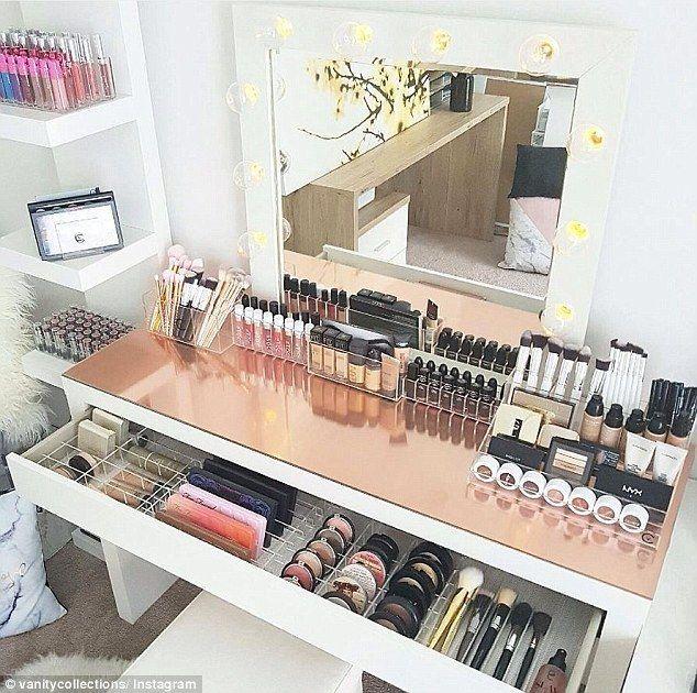 Instagram-würdige Wege, um Ihr Make-up zu organisieren