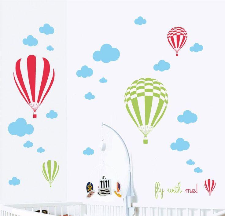 Vinilos decorativos - Myvinilo® Colombia Vinilo Globos aeroestaticos - fly with me