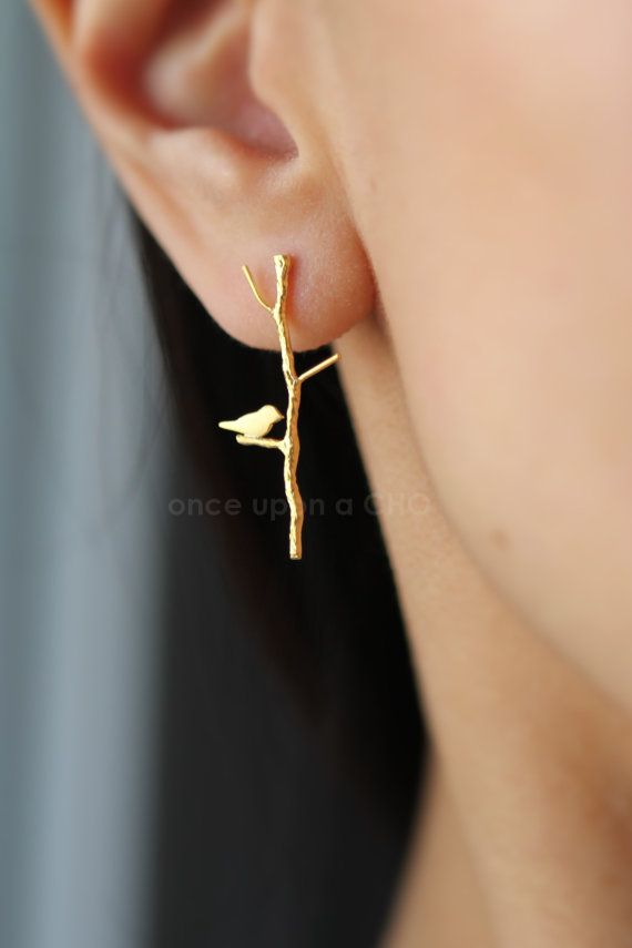 Love birdie on twig earrings . . . for mom