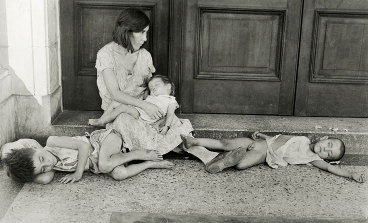 Starving Cuban family, 1933. Part of the series of photos taken during the Great Depression by Walker Evans