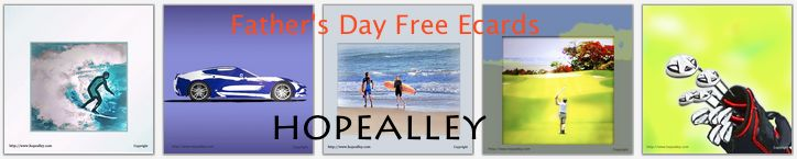 My dad didn't tell me how to live; he lived, and I watched him live cheerfully. Happy Father's Day!!! And thank you for giving me such great memories! (Always Free Ecards at Hopealley)
