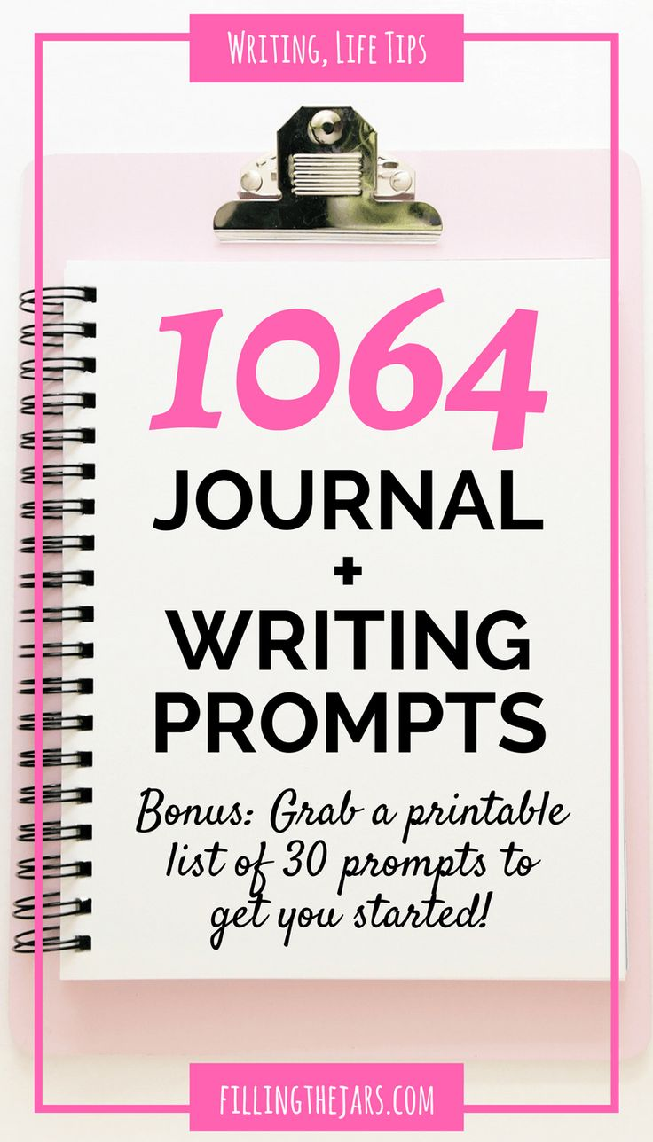 More than 1000 journal prompts   { +30 printable writing prompts } Journaling helps you let go of what's in your head and get on with life. Click through for over 1000 journal prompts...   www.fillingthejars.com